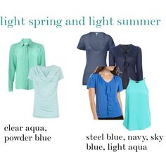 """light spring and light summer blues"" by expressingyourtruth on Polyvore"