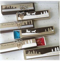 my stampart Stampin' up! schokoladen-Verpackung Edgelits Schlittenfahrt/Sleigh Ride