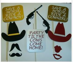 DIY 14 Photo Booth Props Western  Mustache Cowboy by CraftyBooth, $20.00