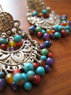 Festival Earrings by crystalmountainjewel on Etsy
