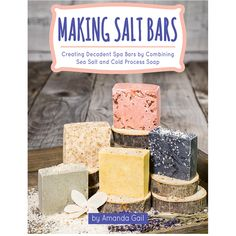 Learn how to formulate sea salt soap bars. Make your own salt bars using sea salt and coconut oil.