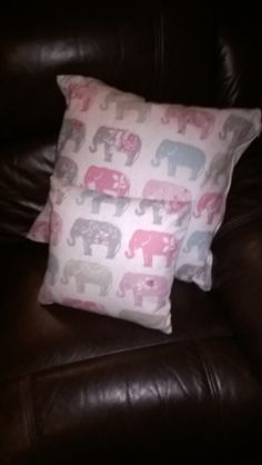 """Elefun cushions 16"""" and 12"""" great for the nursery"""