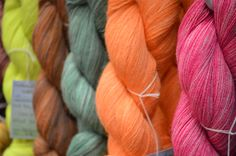 Our advice? Hit the Interweave Yarn Fest Marketplace so you don't miss out on luxurious colorful yarn like this. You'll literally be surrounded by it and who wouldn't want that? You Are Perfect, Yarn Crafts, How To Introduce Yourself, Fiber Art, Advice, Colorful, Tips, String Art, Spinning Yarn