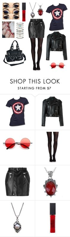 """""""The Capsicle"""" by banasheeanni ❤ liked on Polyvore featuring Marvel, Jean-Paul Gaultier, SPANX, Yves Saint Laurent, NOVICA, Maybelline, Accessorize and Banned"""