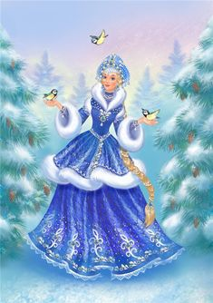изображение снегурочки на открытках - Поиск в Google