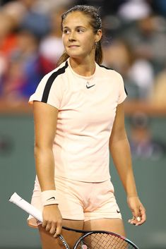 Daria Kasatkina of Russia reacts to a point during her semifinal match against Venus Williams of the United States at the BNP Paribas Open - Day 12 on March 2018 in Indian Wells, California. Daria Kasatkina, Pro Tennis, Eugenie Bouchard, Maria Sharapova Photos, Tennis Players Female, Tennis Stars, Sports Illustrated, Sport Girl, Sports Women