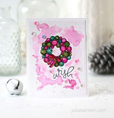 Pink Watercolor Wrea