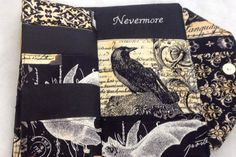 Edgar Allan Poe Gothic Wallet Bill Fold with Metal Clasp