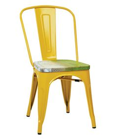 Yellow & Pine Bristow Metal Chair - Set of Four #zulily #zulilyfinds