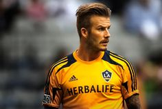 Image detail for -David Beckham of the L.A Galaxy warmups before his team faces the ...