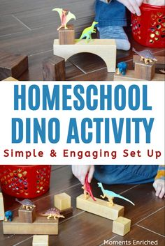 Looking for a quick and engaging activity to keep your kiddo occupied? Check out this simple dinosaur activity! Not only is it fun, but it will help your sweetie focus on those fine motor skills as well! #toddleractivity #finemotorskills #finemotoractivities #toddleractivitiesathome #invitationtoplay #dinosauractivities #preschoolathome #preschool #homeschool Dinosaurs Preschool, Dinosaur Activities, Montessori Activities, Toddler Fine Motor Activities, Indoor Activities For Toddlers, Dinosaur Train, Play Based Learning, Preschool At Home, Sensory Bins