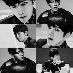 Oh, lord...this guy is something else...I still cannot get over and enough of that lip piercing though. It's just so damn hot!! ❤ #exo #monster #baekhyun