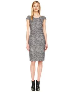 Michael Kors Fitted Tweed Dress.
