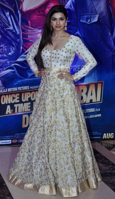 Prachi Desai, who has worked in Ekta Kapoor's Once Upon A Time In Mumbaai, was pretty in a white SVA floor-length anarkali. Prachi had made her small screen debut as Bani in Ekta Kapoor's hit TV serial Kasamh Se.(Photo: Varinder Chawla)