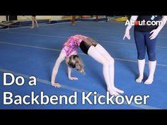 How to Do a Backbend Kickover Tumbling Gymnastics, Gymnastics Skills, Gymnastics Coaching, Gymnastics Videos, Gymnastics Stuff, Cheerleading Tips, Cheer Stunts, Heath And Fitness, Love Fitness
