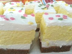 JóPortál - A portál, aminek lelke van. Cake Bars, No Bake Desserts, Baking Desserts, No Bake Cake, Cake Cookies, Vanilla Cake, Sweet Recipes, Breakfast Recipes, Food And Drink