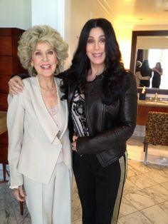 Cher and her 86 year old mother.  All I can say is WOW!!  Remember the Sonny and Cher show?