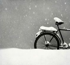 snowy bicycle...