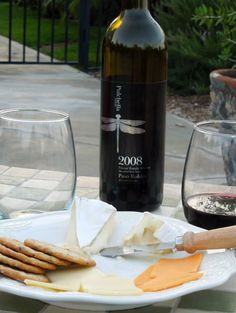 Enjoy your #cheese plate with a smooth bottle of #wine from Pulchella Winery