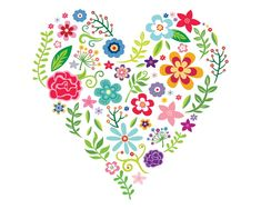 Embroidery Patterns, Hand Embroidery, Cross Stitch Patterns, Gravure Illustration, Polish Folk Art, Scandinavian Folk Art, Fabric Postcards, Heart Painting, Arte Floral