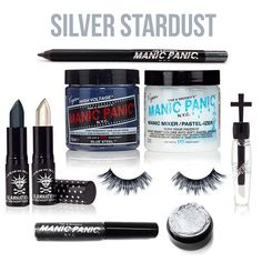 In celebration of reaching 100K followers on Instagram, we gave three colorful sets to random Dye Hard winners! This Silver Stardust set included: 1 Classic Color in Blue Steel, 1 Pastelizer, 1 Cross Gloss in Apparition, 1 Lethal Lipstick in Hell's Bells, 1 Lethal Lipstick in White Witch, 1 Coffin Dust in Silver Stardust, 1 Glitter Pencil Liner in Cauldron Smoke, 1 Dreamliner Liquid Liner in Hell's Bells, 1 set of Glam Lashes in Ultra Glam.