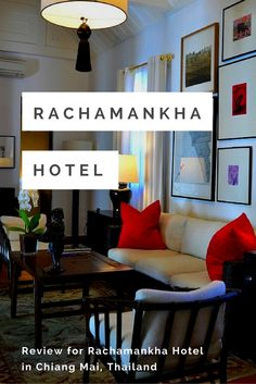 Hotel review of Rachamankha Hotel in Chiang Mai, Thailand. Click this image to read the review, or re-pin it to your travel planning board!