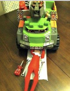 Elf On The Shelf Ideas Is A Mechanic In This Funny Idea New Added Daily All November And December Long Plus FREE Printable