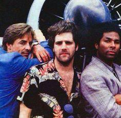 Miami VIce Don Johnson, Glenn Frey and Philip Michael Thomas.