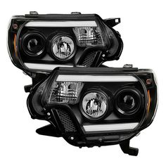 ( Spyder ) Toyota Tacoma 12-15 Projector Headlights - Light Bar DRL - Black from COS Kustoms