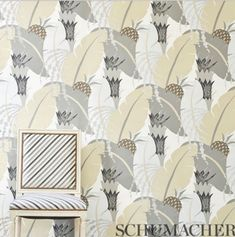 Tropical vibes for wallpaper Wednesday! Schumacher's archival Ananas print was designed in 1930 by french fashion designer Paul Poiret.  Available in fabric and wallcovering in 4 colorways! @patrickstreetinteriors #wallpaper #interiordesign #marylanddesign #frederickmd #getitdowntown #fabric #schumacher1889 #artdecodesign French Fashion Designers, Tropical Landscaping, Tropical Vibes, Art Deco Design, Interior Design, Fabric, Paul Poiret, Murals, Wednesday