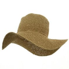 Ladies Hand Crocheted Hats-Khaki