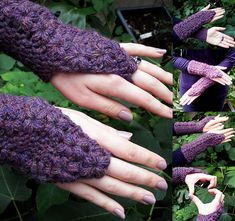 Ravelry: Flower Trails Fingerless Gloves pattern by Esther Chandler
