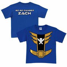 Power Rangers Blue Ranger Royal Blue T-Shirt | Ty's Toy Box