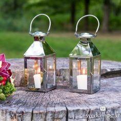 Per dare al vostro ricevimento un tocco glamour l'ideale sono queste lanterne, semplici e romantiche