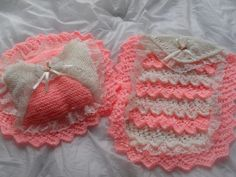 dolls layers of lace pram blanket & pillow...