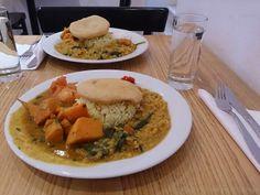Auf diese Teller mit Süßkartoffel-Curry von Wonni hätte ich jetzt Appetit...