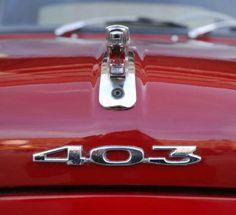 Assorted emblems specific to Peugeot. Auto Peugeot, Peugeot 403, Vintage Bikes, Vintage Cars, Suzuki Sj 410, Peugeot France, Car Ornaments, Station Wagon, Tail Light
