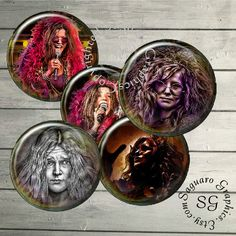 Janis Joplin  Digital Collage Sheets sg461  1.5 by SaguaroGraphics, $4.40