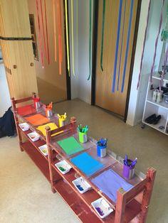 Tips att hitta p med barn Reggio Classroom, Classroom Layout, Classroom Organisation, Classroom Design, Future Classroom, Waldorf Preschool, Preschool Art, Preschool Learning, Montessori Kindergarten