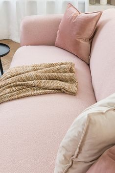 The Pink Sofa Cover #homdecor #slipcover Sofa Throw, Throw Pillows, Pink Sofa, Sofa Covers, Kitchen Accessories, Slipcovers, Love Seat, Couch, Stylish