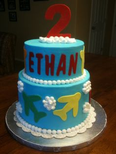 - This was for my nephew second birthday, He really likes airplanes. Butter cream with fondant accents. WASC with cheesecake filling.
