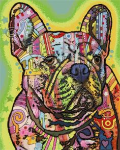 French bulldog cross stitch kit