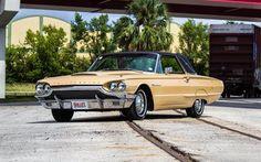 Scarica sfondi Ford Thunderbird, le automobili americane, 1964 automobili, cabriolet, Ford