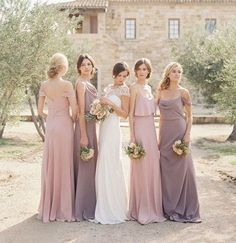 Play with Neutral Shades! - Mismatched Bridesmaid Dresses: Style Tips and 10 Best Combinations - EverAfterGuide