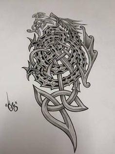 Celtic dragon by shepush on DeviantArt Celtic Tattoos, Tribal Tattoos, Celtic Dragon, Dragons, Deviantart, Stuff To Buy, Kites