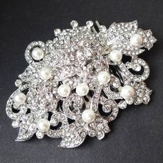 Victorian Style Bridal Hair Accessories Pearl & by luxedeluxe, $82.00