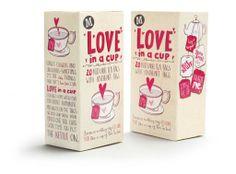 Cute 'love in a cup' tea bags