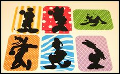 Super cute 3x4 inch Disney Filler cards made with the Mickey and Friends Cricut Cartridge