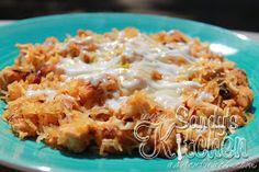 Sandy's Kitchen: Buffalo Chicken Spaghetti Squash