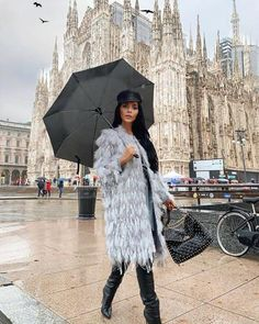 Our Claudia faux fur coat is a must have for the fall season! Featuring a... Catwalk Collection, Under My Umbrella, Dancing In The Rain, Fall Season, Fashion Models, Faux Fur, Fur Coat, Fabric, How To Wear
